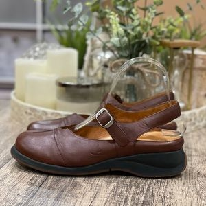 Murtosa Comfort Shoes Brown Leather Mary Janes